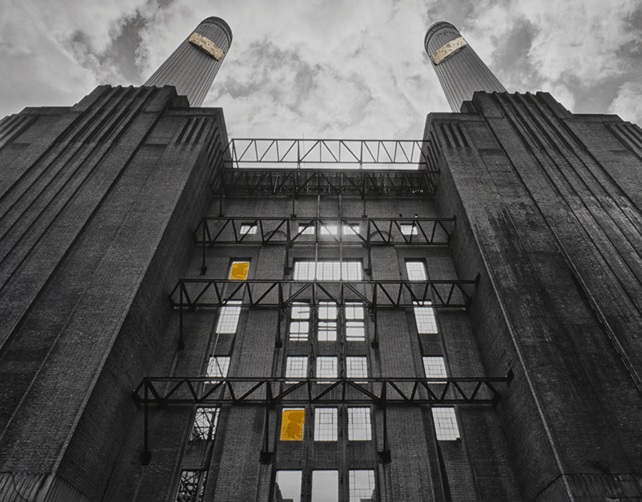 Luxury Fine Photography - Battersea Power Station, Two Chimney by Photographer Adrian Houston